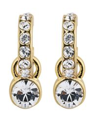 Dyrberg/Kern | Metallic Laurino Gold Crystal Earrings | Lyst