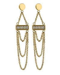 Dyrberg/Kern | Metallic Galileo Shiny Gold Earrings | Lyst