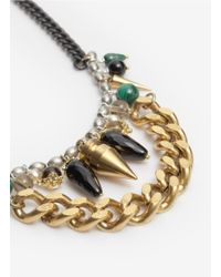 Ela Stone | Metallic Angelica Double-chain Pendant Necklace | Lyst