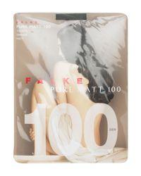 Falke Black Pure Matt 100 Denier Opaque Tights