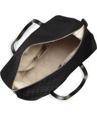 Gucci Black Leathertrimmed Canvas Holdall Bag for men