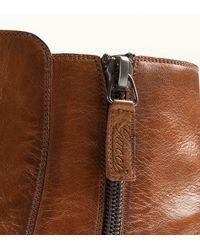 Gucci Brown Cuir Leather Zipper Bootie