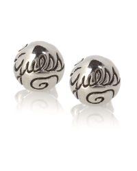 Guess - Metallic Logo Stud Earring - Lyst