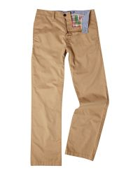 Howick Brown Casual Chino for men