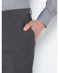 Kenneth Cole Gray Wool Mohair Suit Trousers for men