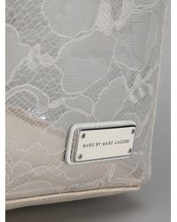 Marc By Marc Jacobs Gray Lace Tote Bag