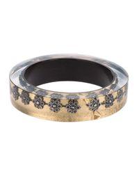 Nicholas King | Metallic Oxi Flower Bangle | Lyst