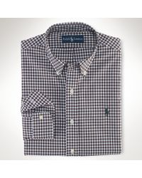 Polo Ralph Lauren | Black Slim-fit Plaid Twill Shirt for Men | Lyst