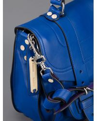 Proenza Schouler Blue Ps1 Medium Satchel
