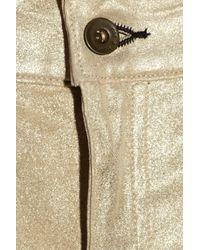 Rag & Bone The Skinny Metallic Stretch-leather Mid-rise Jeans