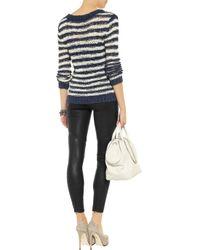 Rag & Bone Blue Sevilla Striped Open Knit Sweater