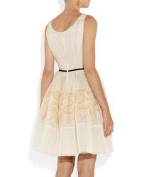 RED Valentino White Embroidered Silk Mini Dress