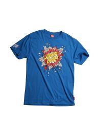 Santa Cruz Blue Boom Dot Printed Tshirt for men