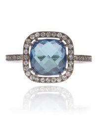 Suzanne Kalan | White Gold London Blue Topaz Ring | Lyst