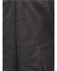 Theory Black Jondi Leather Zip Jacket