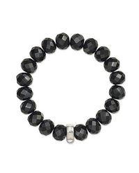 Thomas Sabo | Black Charm Club Obsidian Bracelet | Lyst