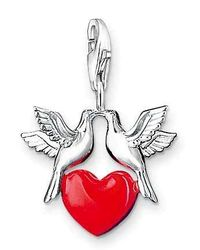 Thomas Sabo | Red Charm Club Love Charm | Lyst