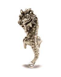 Trollbeads | Metallic Naughty Dragon Silver Charm Bead | Lyst