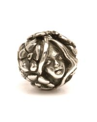 Trollbeads | Metallic Thumbelina Silver Charm Bead | Lyst