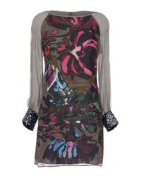Almost Famous Brown Big Flower Tunic Dress