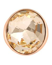 Aurora | Pink 18ct Rose Gold Plated Cocktail Ring | Lyst