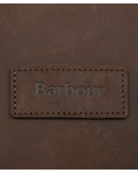 Barbour Green Medium Olive Tarras Leather and Wax Cotton Bag for men