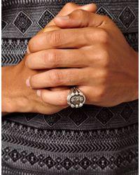 KR3W - Metallic Boom Bap Wear Anchor Ring for Men - Lyst