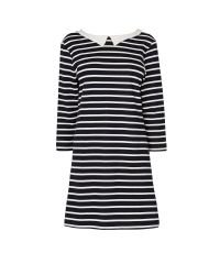 Boutique by Jaeger Black Stripe Sally Jersey Dress