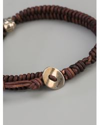 Chan Luu | Brown Leather Skull Bracelet for Men | Lyst
