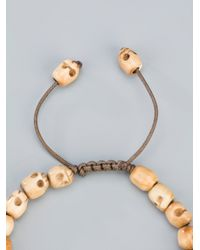 Chan Luu - Natural Skull Beaded Bracelet for Men - Lyst