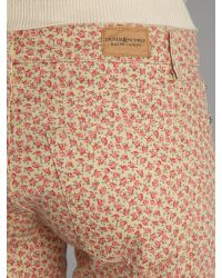 Denim & Supply Ralph Lauren Pink Skinny Printed Jean
