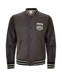 DIESEL | Black Baseball Jacket for Men | Lyst