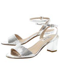 Dune Metallic Haria Block Heeld Sandals