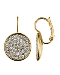 Dyrberg/Kern | Metallic Desria Shiny Gold Crystal Earrings | Lyst
