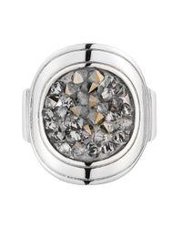 Dyrberg/Kern Metallic Deanna Shiny Silver Grey Cluster Ring