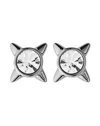 Dyrberg/Kern | Metallic Rubis Shiny Silver Earrings | Lyst