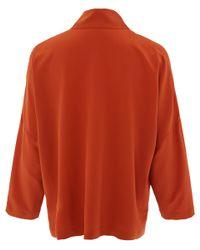 Eskandar Burnt Orange Imperial Silk Shirt