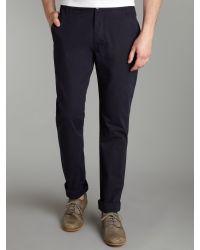 Farrell Black Regular Chino Trousers for men