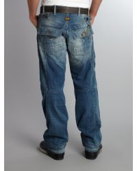 G-Star RAW Blue Elwood Loose Trail Jeans for men
