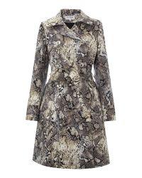 Helene Berman Gray Double Breasted Trench Coat