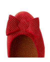 Hobbs Red Florrie Bow Ballerina Shoe