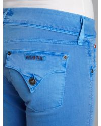 Hudson Jeans Collin Skinny Cropped Jeans in Mariner Blue