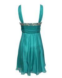 Jane Norman Blue Silk Embellished Prom Dress