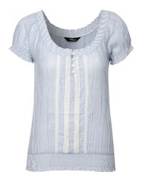 Jane Norman Blue Stripe Gypsy Top
