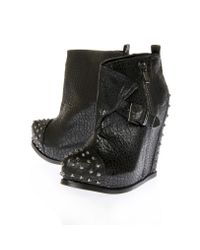 KG by Kurt Geiger Black Walker Lanay Wedge Ankle Boots