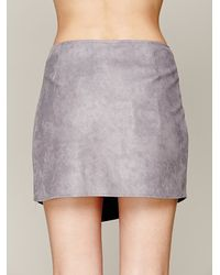 Ladakh Gray Biker Wrap Mini Skirt