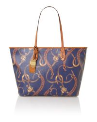 Lauren by Ralph Lauren Multicolor Cadwell Belting Large Tote Bag