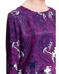 Mango Purple Paisley Print Dress