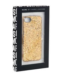 Marc By Marc Jacobs Metallic Gold Foileffect Iphone 5 Case