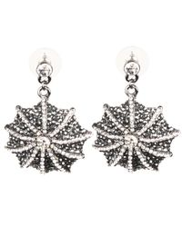 Mikey | Black Web Design Earrings | Lyst